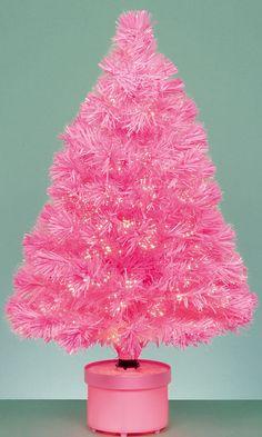 Mini Pink Christmas Tree