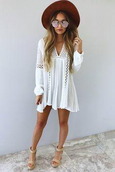 Slip Into Love Dress: White