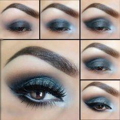 Bleu #maquillage