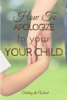 Have you ever lost your temper only to see your child watching you? If you need to apologize to your child, here are some great tips to make it effective. Apology Accepted: How to Apologize to Your Child