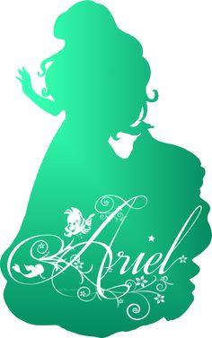 Disney Princess Photo: Ariel Silhouette - Decor Diy Home Ariel Disney, Walt Disney, Disney Pixar, Disney And Dreamworks, Disney Love, Disney Films, Goth Disney, Disney Decals, Disney Animation