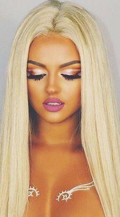 Brazilian Straight Human Hair - 4 Bundles Blonde