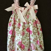 This Bubble Romper is made from a light-weight satin material, with lace and ribbon detail. It is so adorable. Perfect for daily wear, photo shoots, birthdays, holidays and much more!!! A matching headband is come with this romper as a set.  * Size: 3-18mths, 2-4 years old * All products made f...