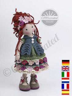 Crochet Pattern for Doll ESJA pdf Deutsch English   Etsy Crochet Doll Pattern, Crochet Chart, Crochet Dolls, Crochet Patterns, Amigurumi Doll, Amigurumi Patterns, Doll Patterns, Quilt Batting, Bobble Stitch