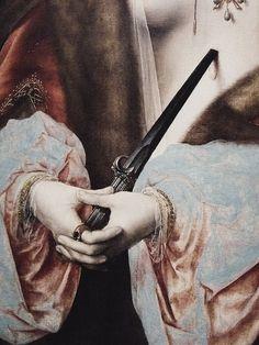 Lucretia Borgia (Lucrezia Borgia) - Joos Van Cleave, 1525. (detail)