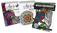 ColorIt Is Giving Away A Set Of 3 Coloring Books Everyday In March.  No Purchase Necessary.