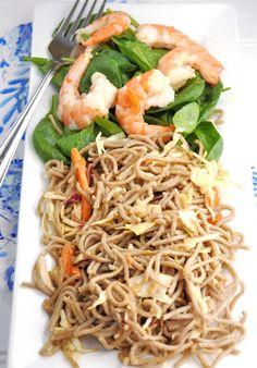 Chilled Shrimp & Soba Noodle Salad #Recipe