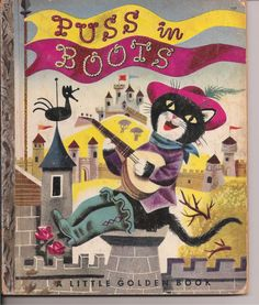 Vintage Little Golden Book Puss in Boots by low65352 on Etsy, $15.00