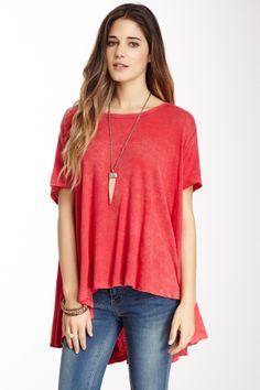 Circle in the Sand Linen Blend Tee