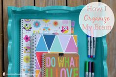 I'm sharing how I use a combination of notebooks and a planner to organize all the ideas and thoughts in my head!