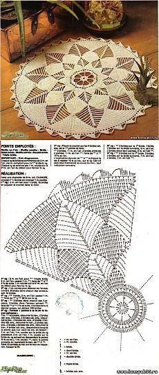 Еще один коврик.(из интернета) / Вязание крючком / Вязание крючком для начинающих
