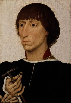 Francesco d'Este (born about 1430, died after 1475)  Artist:Rogier van der Weyden (Netherlandish, Tournai ca. 1399–1464 Brussels)  Date:ca. 1460  Medium:Oil on wood  Dimensions:Overall 12 1/2 x 8 3/4 in. (31.8 x 22.2 cm): painted surface, each side 11 3/4 x 8 in. (29.8 x 20.3 cm)  MMA