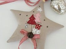 Star Christmas in a country house style Handmade Christmas Tree, Felt Christmas Decorations, Xmas Ornaments, Christmas Stockings, Christmas Makes, Beautiful Christmas, Christmas Time, Christmas Sewing, Christmas Projects