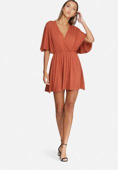 Kimono sleeve short dress