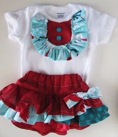 Embellish a onesie and add a matching skirt...#Repin By:Pinterest++ for iPad#