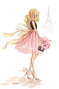 Girl visiting Paris