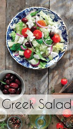 Classic greek salad. This is a super easy healthy recipe that can be eaten on it's own or accompany meals. I love this