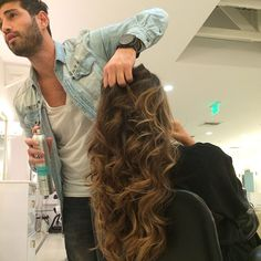 Cute @Alexandra Navarro hair stylist at the Byron Williams Salon in New York using #milanihair products.