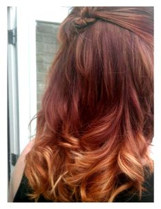 red ombre hair | Tumblr. I wish I could get this color