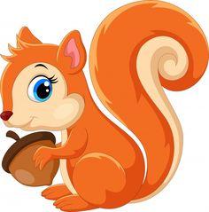 Cartoon Icons, Cartoon Styles, Cute Cartoon, Happy Squirrel, Cute Squirrel, Squirrel Illustration, Happy Thanksgiving Day, Spring Painting, Funny Cartoons