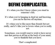 Im so glad that my love is not Complicated anymore