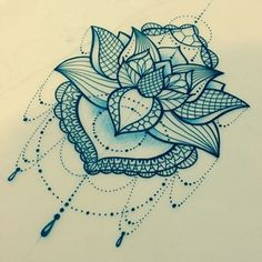 "Katie Shocrylas on Instagram: ""another pretty little #lotus. #lace #linework"""