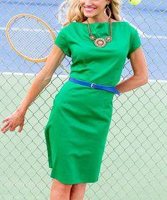 Another great find on #zulily! Green Tie Breaker Dress #zulilyfinds