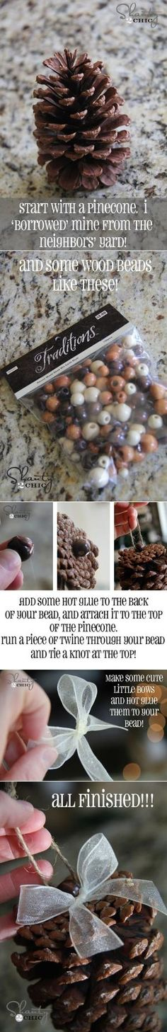 DIY Pinecone Ornaments by Aeerdna