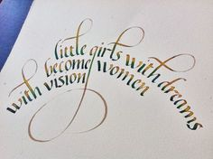 Little Girls with dreams become women with vision watercolor by Esther Gordo