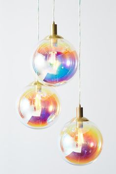 Slide View: 2: Chroma Bubble Pendant Trio