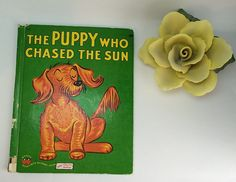 The Puppy Who Chased the Sun #WonderBooks #535 Published #1950's Vintage #Children'sBook Perfect for Teachers Home School Free US Shipping at #SoaringHawkVintage on #Etsy