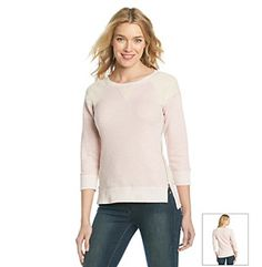 Ruff Hewn Sleeve French Terry Pull Over Ruff Hewn, French Terry, Active Wear, Tunic Tops, Sleeves, Women, Fashion, Moda, Fashion Styles