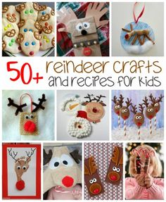 Everyone knows that kids love reindeer crafts! There are lots of ways to create a cute reindeer, whether it's with paper, paint or even with food.