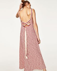 STRAPPY DRESS WITH LACE-UP BACK-NEW IN-WOMAN | ZARA United States
