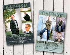 Boy Baptism Invitation 3 picture photo by TamiRayCardsandPrint, $13.00