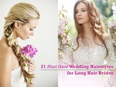 Looking for long hair wedding hairstyles inspiration? You`ve come to the right place. Here`s 21 styles to feast your eyes.