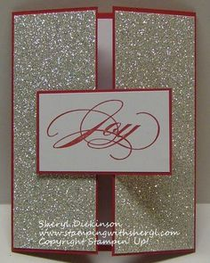Christmas Card - love the SU Silver Glimmer Paper (9.14.14)