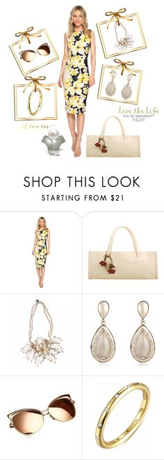 """""""Golden Girl"""" by freida-adams ❤ liked on Polyvore featuring Christin Michaels, WALL, vintage, sunglasses, maria, melbourne, zappo and bettina"""