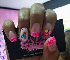 Cute Nail Art, Cute Nails, Shot Glass, French Tips, Beauty, Pedicures, Nail Art, Pretty Nails, French Nails