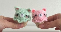 These Amigurumi Crochet Kitty Ice Creams May Be The Cutest Thing I've Made!