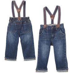 "Koala Baby Boys' Suspender Jeans - Babies R Us - Babies ""R"" Us (pair with buffalo plaid shirt for lumberjack costume)"