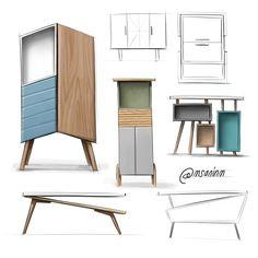 Design Furniture Sketch Behance 39 Ideas For 2019 Diy Home Furniture, Luxury Furniture, Cool Furniture, Furniture Design, Furniture Projects, Furniture Makeover, Deco Luminaire, Interior Design Sketches, Apartment Design