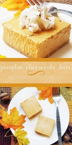 Celebrate the season with these rich and creamy pumpkin cheesecake bars! A few simple ingredient swaps make them a lighter, healthier dessert.