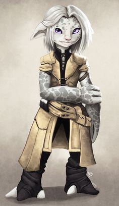 Asura girl by =SketchyTas on deviantART. Looks like one of my girls.