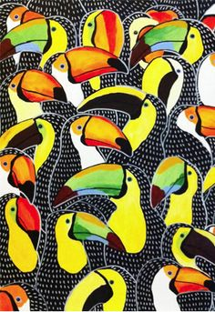 This toucan pattern!  by Johanna Burai via Honestly WTF