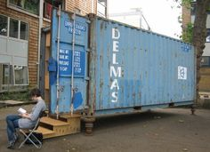 Recycled Shipping Container Becomes art gallery