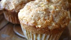 These apple muffins with a crumbly cinnamon topping will smell so good in the oven, you'll want to bake a batch each morning!