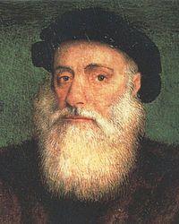Vasco da Gama (1460 ou 1469 - 1524) foi um navegador e explorador português. No dia 20 de maio de 1498, o navegador português Vasco da Gama chegou ao porto de Calecute, na costa oeste da Índia.