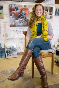 the AP Collection episode with painter Cara Livorio (Jerome Charles Photography)