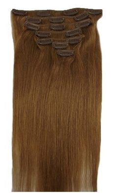 """18"""" Clip in Remy Human Hair Extensions 12# Light Blonde 7pcs 70g by zgzjywxf. $24.00. High quality. Typle:100% human hair,they can be curled, dyed"""